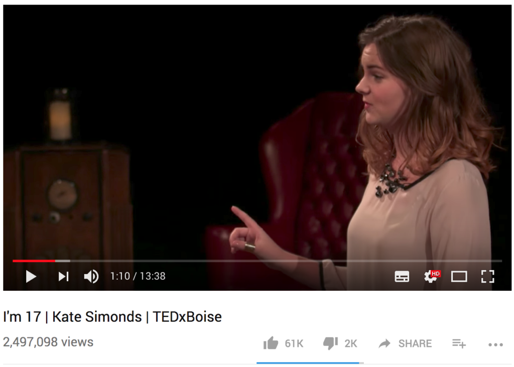Kate Simonds was not a famous TED Talks speaker
