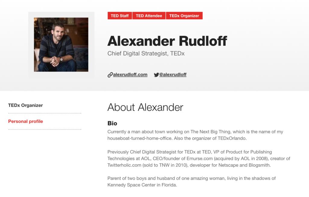 TEDx decision maker contact details